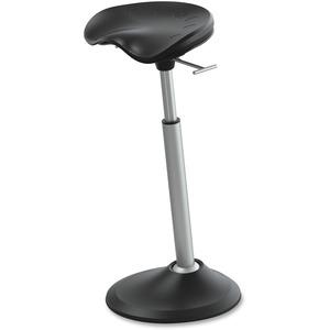 Focal Mobis II Standing Desk/Table Seat - Matte Black Ethylene Vinyl Acetate (EVA), Fiberglass Reinforced Nylon Seat - Ellipse Base - 1 Each