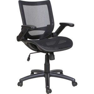 Lorell Task Chair - Mid Back - Black - Yes - 1 Each