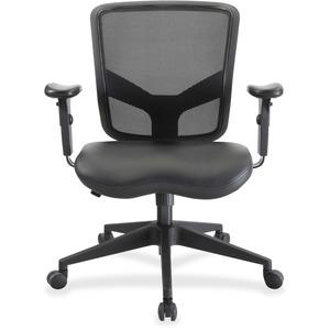 Lorell Executive Chair - Mid Back - Black - 1 Each
