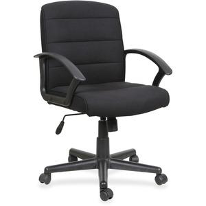 Lorell Fabric Task Chair - Black Fabric Seat - Black Fabric Back - 1 Each