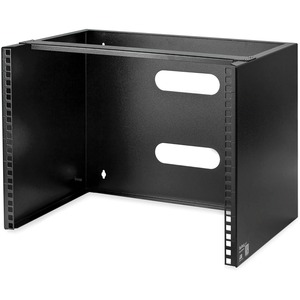 Mount equipment that is up to 12 inches deep such as patch panels or network swi