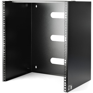 Mount equipment that is up to 12in deep such as patch panels or network switches