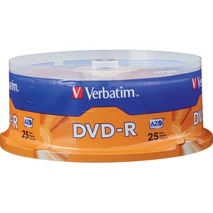 Verbatim AZO DVD-R 4.7GB 16X with Branded Surface - 25pk Spindle - 2 Hour Maximum Recordin