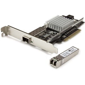 StarTech.com 1-Port 10G Open SFP+ Fiber Optic Network Card | PCIe | Intel Chip | MM | PCI Express 10G NIC with Multimode Transceiver