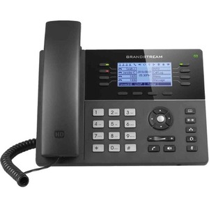 Grandstream GXP1782 IP Phone - Corded - Wall Mountable-Desktop - Black - 8 x Total Line -