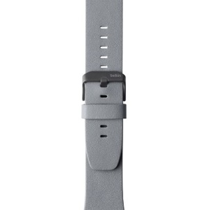 Belkin Classic Leather Band for Apple Watch 38mm - Gray - Italian Leather