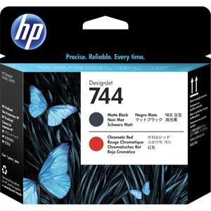HP 744 MATTE BLACK & CHROMATIC RED DESIGNJET PRINTHEAD