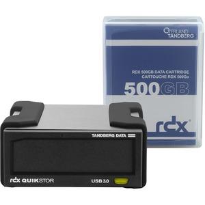 TANDBERG RDX EXTERNAL DRIVE KIT WITH 500GB BLACK USB3