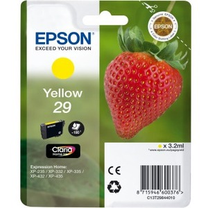 EPSON Claria 29 Original Ink Cartridge - Yellow - Inkjet - 180 Pages - 1 Pack