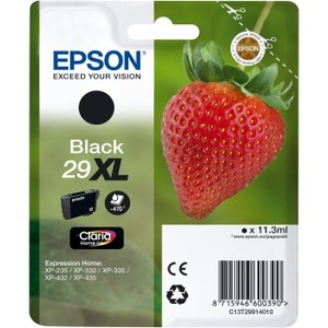 EPSON Claria 29XL Original Ink Cartridge - Black - Inkjet - 470 Pages - 1 Pack