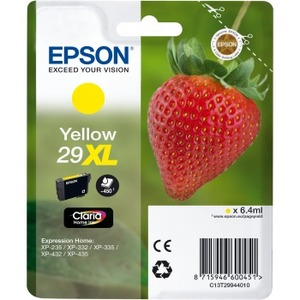 EPSON Claria 29XL Original Ink Cartridge - Yellow - Inkjet - 450 Pages - 1 Pack