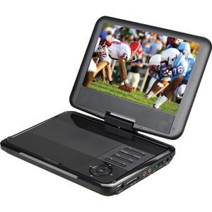 Supersonic SC-179DVD Portable DVD Player - 9inDisplay - 800 x 480 - Black - DVD+RW-DVD-RW
