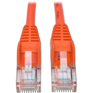 Tripp Lite 5ft Cat5 Cat5e Snagless Molded Patch Cable UTP Orange RJ45 M/M 5'