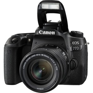 Canon EOS 77D 24.2 Megapixel Digital SLR Camera with Lens - 18 mm - 55 mm - 3inTouchscree