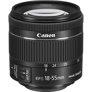 Canon - 18 mm to 55 mm - f/5.6 - Standard Zoom Lens for Canon EF-S - Designed for Digital