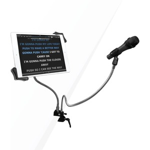 CTA Digital Microphone Clip Tablet Holder Gooseneck Clamp 7-13In Tablets - 13inScreen Sup