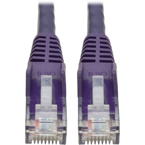 Tripp Lite 6ft Cat6 Snagless Molded Patch Cable UTP Purple RJ45 M/M 6'
