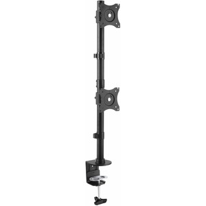 StarTech.com Vertical Dual Monitor Mount | Heavy Duty Steel | For VESA Mount Monitors up to 27in (22lb/10kg) | Adjustable Double Monitor Mount