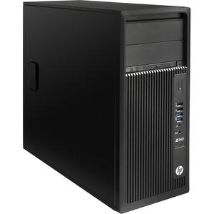 HP Z240 Workstation - 1 x 3.70 GHz - 32 GB DDR4 SDRAM - 500 GB HDD - Windows 10 Pro 64-bit - Mini-tower - Black