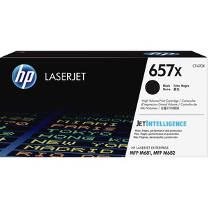 HP 657X HIGH YIELD BLACK ORIGINAL LASERJET TONER CARTRIDGE