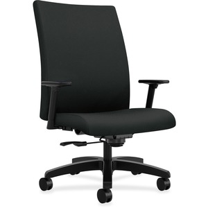 HON Ignition Big and Tall Chair - Mid Back - 5-star Base - Black - 1 Each