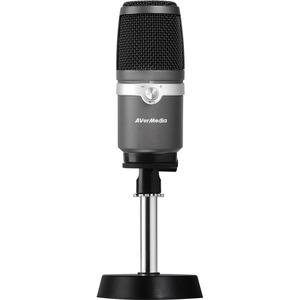 AVerMedia AM310 Wired Condenser Microphone - 20 Hz to 20 kHz - 60 dB - Cardioid - Desktop