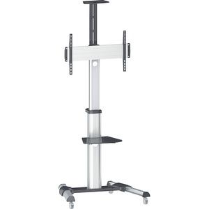 Manhattan Universal Multimedia TV Cart - Up to 70inScreen Support - 121 lb Load Capacity