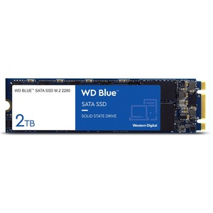 WD Blue 3D NAND 2TB PC SSD - SATA III 6 Gb/s M.2 2280 Solid State Drive - 560 MB/s Maximum
