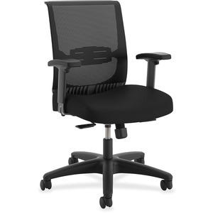 HON Convergence Task Chair - Black Fabric, Foam Seat - 5-star Base - 1 Each