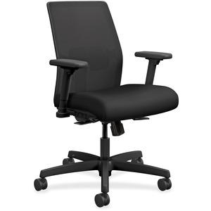 HON Ignition Mesh Back Task Chair - Black Fabric Seat - Fabric Back - Black Frame - 5-star Base - 1 Each