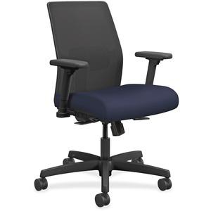 HON Ignition Mesh Back Task Chair - Navy Fabric Seat - Fabric Back - Black Frame - 5-star Base - 1 Each