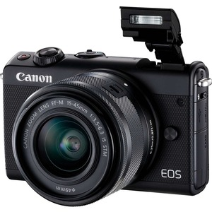 Canon EOS M100 24 Megapixel Mirrorless Camera with Lens - 15 mm - 45 mm (Lens 1)-55 mm - 2