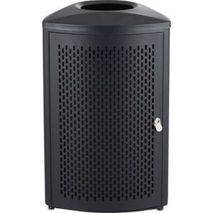 Safco Nook Indoor Waste Receptacle - 13 gal Capacity - Triangular - Durable, Powder Coated, Perforated, Corrosion Resistance, Latch Door - 29.5