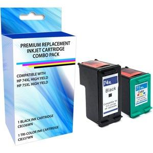 INK BDL HP 74XL 75XL BLK TRI COL