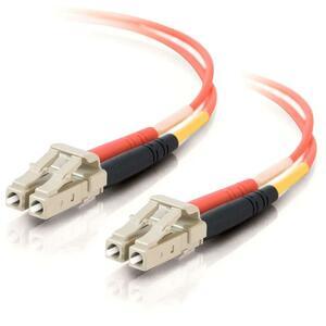 1m LC-LC 62.5/125 OM1 Duplex Multimode PVC Fiber Optic Cable | Orange