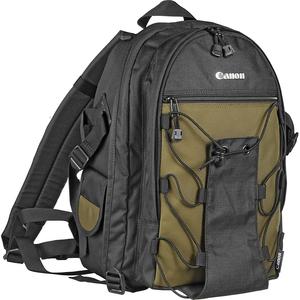 Canon 200EG Deluxe Camera Case - Backpack - Shoulder Strap - Nylon - Black-Olive