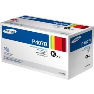 2PK BLACK TONER CARTRIDGE FOR SAMSUNG CLT-P407B