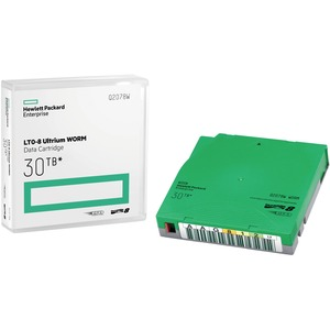 HPE LTO Ultrium-8 Data Cartridge - LTO-8 - WORM - Labeled - 12 TB (Native) / 30 TB (Compre