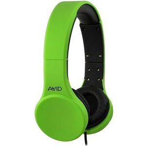 AVID AE-42 HEADSET WITH INLINE MIC & VOLUME CONTROL-GREEN - Stereo - Mini-phone (3.5mm) -