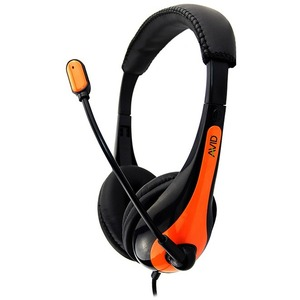 AVID AE-36 HEADSET WITH NOISE CANCELLING MIC & 3.5MM PLUG ORANGE - Stereo - Mini-phone (3.
