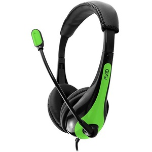 AVID AE-36 HEADSET WITH NOISE CANCELLING MIC & 3.5MM PLUG GREEN - Stereo - Mini-phone (3.5