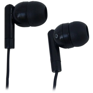 AVID AE-215 LIGHTWEIGHT 1 USE EARBUD WITH SILICONE EAR TIPS - Stereo - Black - Mini-phone