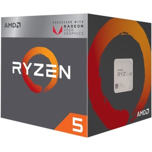 AMD Ryzen 5 2400G Quad-core (4 Core) 3.60 GHz Processor - Socket AM4 - Retail Pack - 2 MB