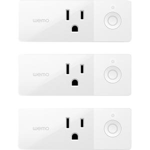 Belkin Wemo Mini Smart Plug - AC Power - 120 V AC / 15 A - Alexa-Google Assistant-IFTTT Su