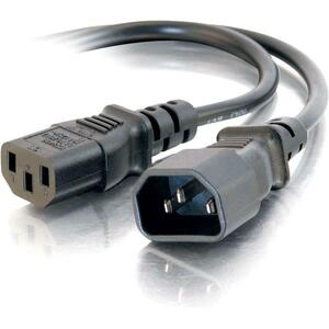3ft Computer 18 AWG Power Cord Extension (IEC320C13 to IEC320C14)