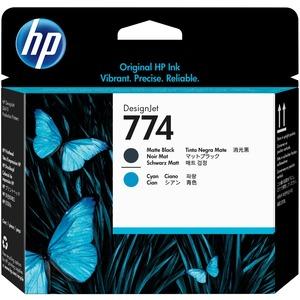 HP 774 MATTE BLACK/CYAN PRINTHEAD