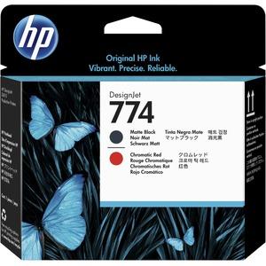 HP 774 MATTE BLACK/CHROMATIC RED PRINTHEAD