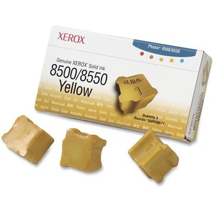 GENUINE XEROX SOLID INK 8500/8550 YELLOW (THREE STICKS) 108R00671