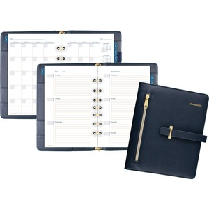 At-A-Glance Buckle Closure Undated Desk Start Set - Yes - Weekly, Monthly - 8:00 AM to 5:00 PM - 1 Month, 1 Week Double Page Layout - 5 1/2