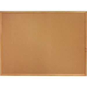 Lorell Oak Wood Frame Cork Board - 48